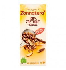 Zonnatura Zoethout thee bio 20 zakjes | € 2.19 | Superfoodstore.nl