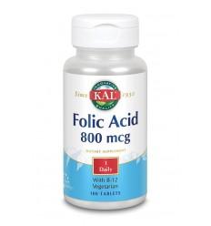 KAL Foliumzuur 800 mcg & B12 100 tabletten | € 8.12 | Superfoodstore.nl