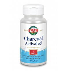 KAL Charcoal activated - actieve kool 280 mg 50 vcaps | € 8.70 | Superfoodstore.nl