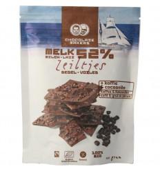 Chocolatemakers Chocozeiltjes donkere melk 52% koffie & nibs 100 gram | € 3.85 | Superfoodstore.nl