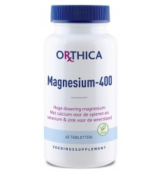 Orthica Magnesium 400 60 tabletten | € 15.71 | Superfoodstore.nl