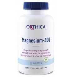 Orthica Magnesium 400 120 tabletten | € 20.09 | Superfoodstore.nl