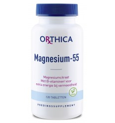 Orthica Magnesium 55 120 tabletten | € 11.80 | Superfoodstore.nl