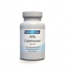 Nova Vitae Alfa liponzuur 600 mg 60 capsules